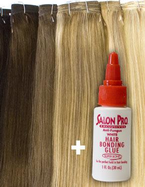 Ei hair extensions with glue 14 22 diy set weft eboni and ivory pmusecretfo Choice Image